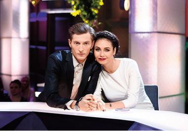 Павел Воля с женой Ляйсан Утяшевой.